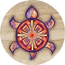 Thirstystone Stoneware Indian Turtle Coaster Multicolor