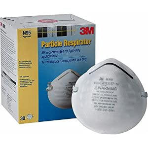 3M 8000 Particle Respirator N95, 30-Pack