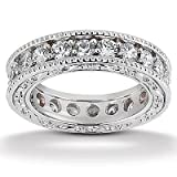 1.25 Ct Round Cut Diamond Eternity Wedding Band Ring 14kt