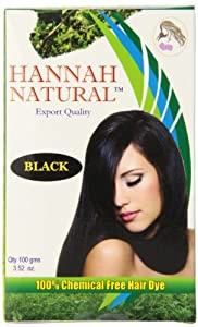 Hannah Natural 100% Chemical Free Hair Dye, Black, 100 Gram