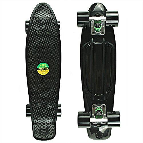 senmi-mini-komplett-559-cm-zoll-kunststoff-skateboard-single-color-style-mit-7-farben