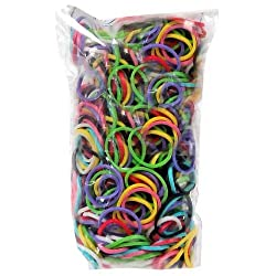 [Best price] Arts & Crafts - RAINBOW LOOM LATEX FREE REFILL BAG MULTICOLOR MIXED BANDS WITH 600 BANDS & C-CLIPS - toys-games