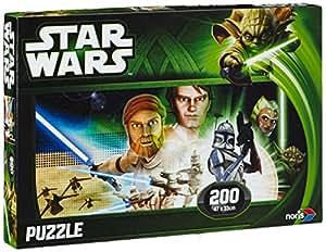 Noris Spiele - Star Wars Clone Wars Puzzle 200 Tiles - Jedi