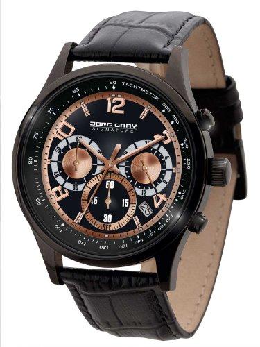 Jorg Gray JGS3570 - Orologio da polso, uomo, pelle, colore: nero