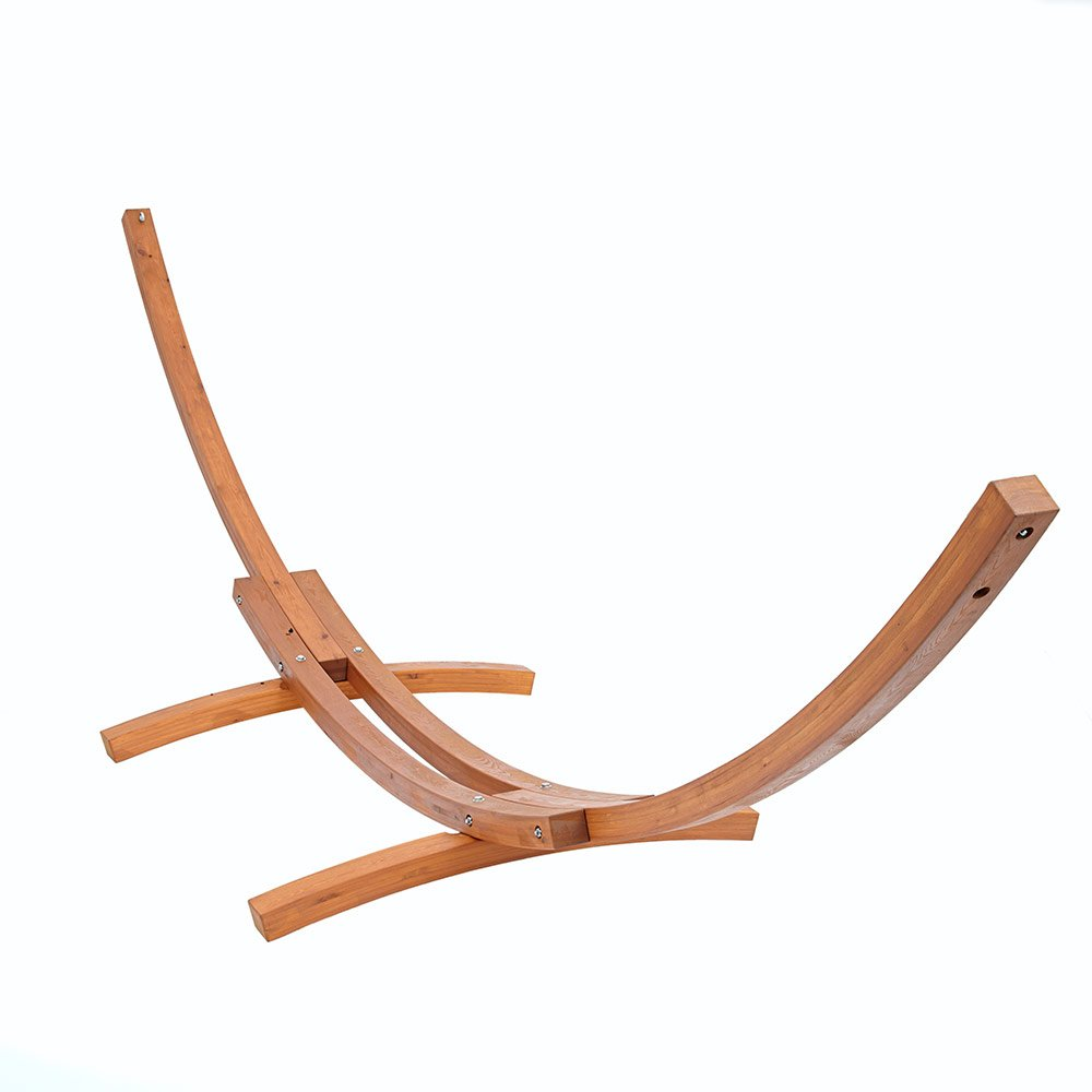 Trueshopping 4M UV Protected and Waterproofed Natural Wooden Arc Frame Stand for a Double Hammock Bed       reviews and more news