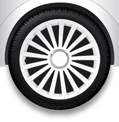 """Radzierblenden Radkappen Radabdeckung 14"""" Zoll #36 WEIß ABS von ZentimeX auf Reifen Onlineshop"""