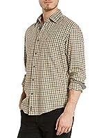 Marc O'Polo Camisa Hombre (Marrón / Gris)