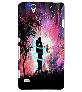 SONY XPERIA C4 LOVE COUPLE Back Cover by PRINTSWAG