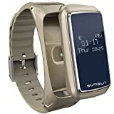 BOND B7 Bluetooth Smart Band Talkband Heart Rate Monitor Sport Health Smartband With Music Player Wristband (GOLD) (Color: GOLD)