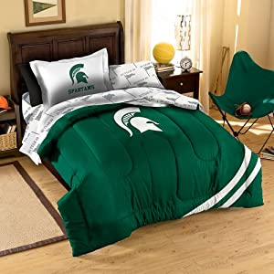 NCAA Michigan State Spartans Twin Bedding Set by Northwest