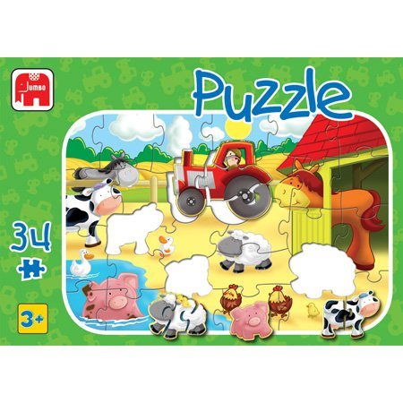 Cheap Jumbo Farm 34pc Floor Puzzle (B000BKJR5S)