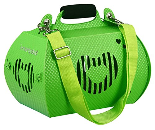 Pet Dog Cat Hard Sided Travel Carrier Plastic for Outdoor Carrier Bag 017(Green S)