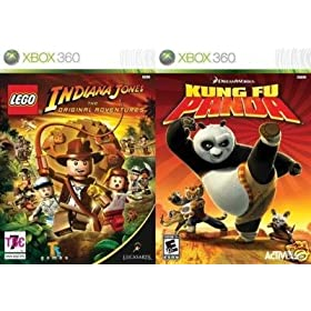 LEGO Indiana Jones / Kung Fu Panda Xbox 360 Games NEW