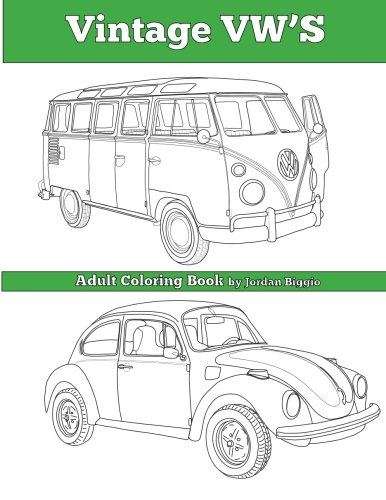 Vintage VW's: An Adult Coloring Book (Vintage Vw compare prices)