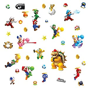 Roommates 673scs Nintendo Super Mario Peel And Stick Wall Decals from RoomMates