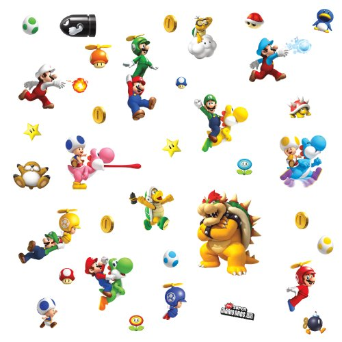 ROOMMATES 673SCS Nintendo Super Mario Peel and Stick Wall Decals - 1