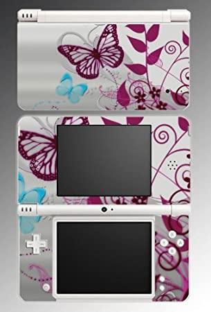 Butterfly Flowers Art Game Vinyl Decal Cover Skin Protector #55 for Nintendo DSi XL