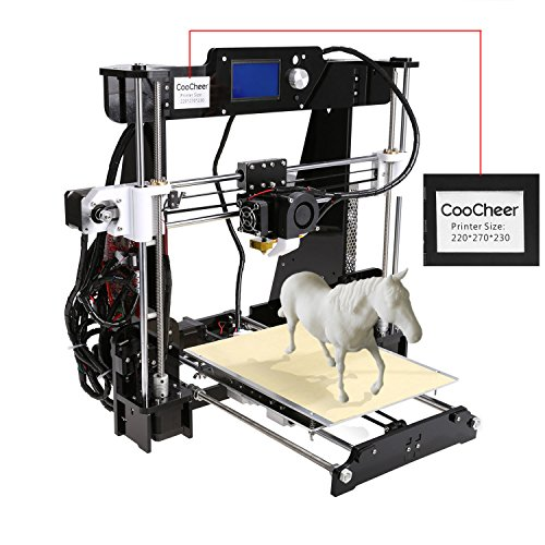 Coocheer Upgraded 3.5 LCD Screen High Accuracy Desktop 3D Printer I3 Metal Frame Modularize DIY Kit Self-assembly 8.6×10.5×9.0