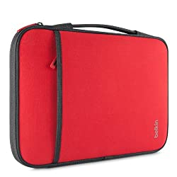 Belkin B2b081-c02 11-Inch Sleeve for Laptop/Chromebooks - Red (B2B081-C02)