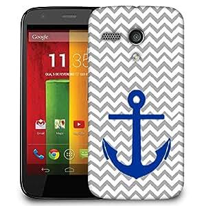 Snoogg Anchor Wave Designer Protective Phone Back Case Cover For Motorola G / Moto G