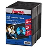 Hama Lot de 25 boitiers DVD Slim