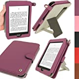 IGadgitz Purple PU 'Bi-View' Leather Case Cover for Amazon Kindle Paperwhite 2012 & 2013 versions 3G 6 Display Wi-Fi 2GB. With Sleep/Wake Function & Integrated Hand Strap