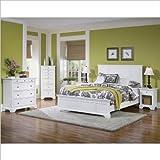 Home Styles Naples Queen Panel Bed 3 Piece Bedroom Set in White