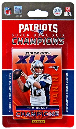 NFL 2015 Panini Football Cards Patriots Super Bowl 49 Champions Team Set (Super Bowl Merchandise Patriots compare prices)