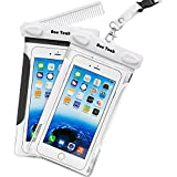 Waterproof Case, 2 Pack Ace Teah Clear Transparent Universal Waterproof Case with comb, Dry Bag, Pouch, Snowproof...