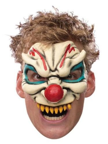 Disguise Evil Clown Scary Halloween Costume Adult Chinless Mask