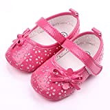 etrack-online beb� ni�a Prewalker Mary Jane lazo goma suave soled zapatos de antideslizante rosa hot pink Talla:12-18months