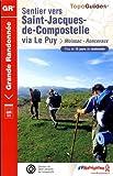echange, troc FFRandonnée - Sentier vers Saint-Jacques-de-Compostelle via Le Puy : Moissac/Roncevaux