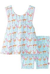 Zutano Baby Girls' Flamingo Sunshine Top and Bike Short Set
