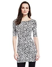 M&S Collection 2 Pockets Animal Print Tunic