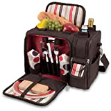 Malibu Insulated Shoulder Pack with Deluxe Picnic Service for 2, Mocha