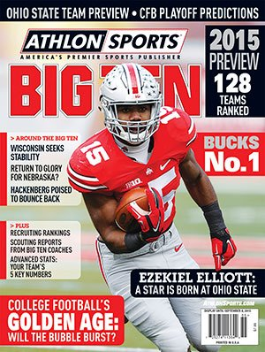 Athlon Sports 2015 College Football Big Ten Preview Magazine- Ohio State Buckeyes Cover