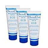 BurnOut Sunscreen SPF 35 Eco-Sensitive Zinc Oxide Clean and Clear, 3 oz. 3-Pack