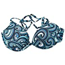 Clearance Speedo Ladies/Womens Swirl Pattern Padded Swimwear Bikini Top