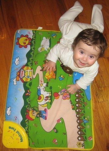WolVol-Baby-Playmat-with-Musical-Animals-Farm-275-x-195-inches-TouchCrawlSoundVisual-Great-Gift-Toy-for-1-Year-Old
