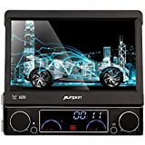 Pumpkin Wince 6.0 Universal Head unit Single Din Car Stereo GPS sat nav DVD Player 7.0 inch In Dash support GPS/Navi/USB/SD/DVB-T Box input/Subwoofer output/Cam-in/Bluetooth/Steering Wheel Control Function/FM/AM Radio Stereo Multimedia Station Navigation System with Free 8GB SD Card (Wince 6.0(2))