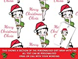Personalised Wrapping Paper Christmas Betty Boop Wrap - 590mm x 840mm (BBC-1)