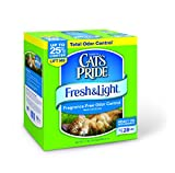 Cat's Pride Fresh and Light Fragrance Free Odor Control Multi-Cat Scoop Cat Litter Box, 21-Pound