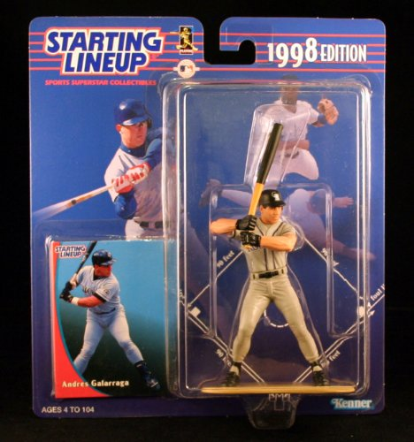 ANDRES GALARRAGA / COLORADO ROCKIES 1998 MLB Starting Lineup Action Figure & Exclusive Collector Trading Card