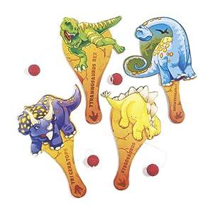 Dinosaur Paddleball Games (1 dz)