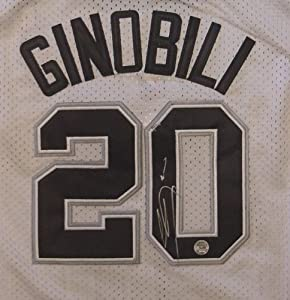 Manu Ginobili San Antonio Spurs Autographed White #20 Jersey by Sports-Autographs