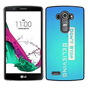 Omega Covers - Snap on Hard Back Case Cover Shell FOR LG G4 - Don' Stop Believing