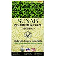 SUNAB-CERTIFIED ORGANIC AND 100% NATURAL DARK BROWN HAIR COLOR