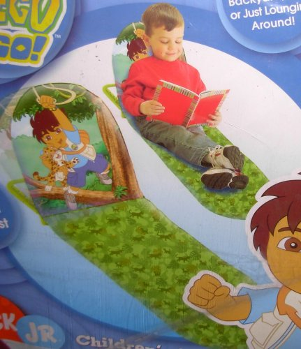 Children'S Nick Jr Go Diego Go Folding Sun Mat Beach Chair