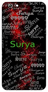 Surya (Sun) Name & Sign Printed All over customize & Personalized!! Protective back cover for your Smart Phone : Samsung Galaxy A-5