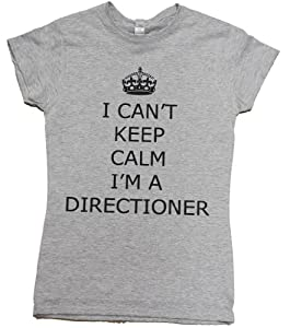 21 Century Clothing Unisex-Adult I can't keep calm I'm a Directioner One Direction T - Shirt